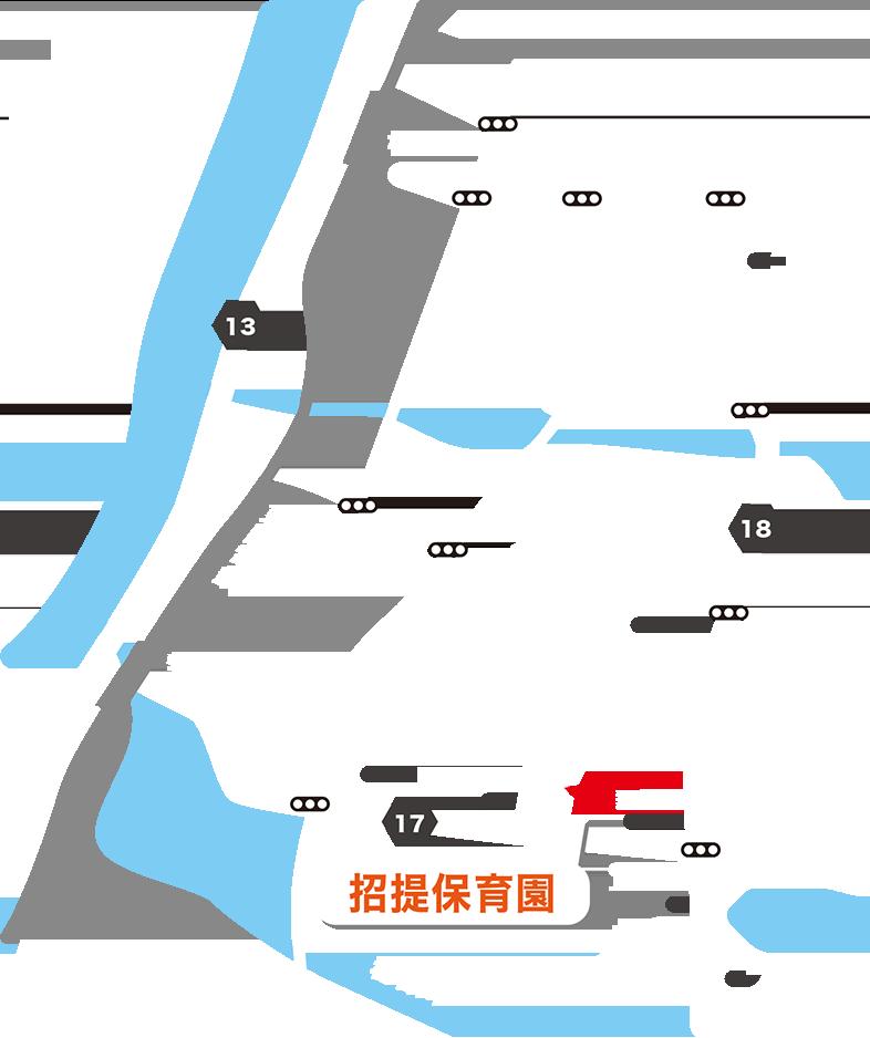 招提保育園 周辺地図